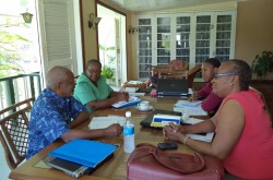 CWM Caribbean regional team and CWM Finance Secretary in Guyana