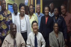 VISITOR FROM SINGAPORE –Rev Dr Tan Cheng Huat, General Secretary elect of the Presbyterian Church in Singapore paid a courtesy call on UCJCI, met with leaders and visited the CWM Caribbean office.